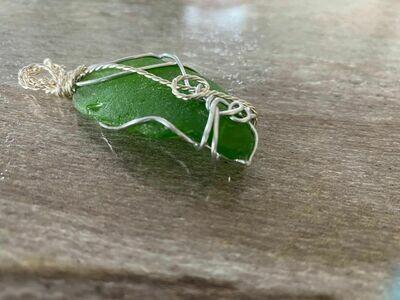 Pendant Newfoundland Green Sea Glass -Handmade by Goddess Janelle