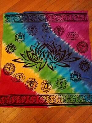 Cloth (tapestry) Altar Cloth Lotus Chakra 36x36 square
