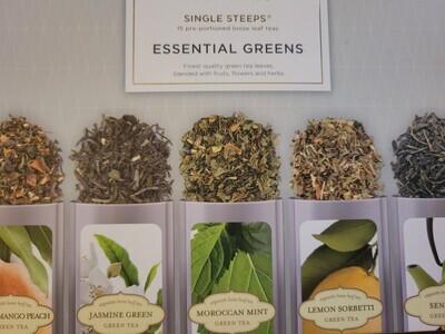 Tea-  (Single Steeps)  Essential Greens Boxed Premium Loose Tea.