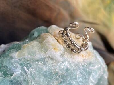 Ring (Cuff style/Adjustable (small) -Handmade by Goddess Janelle