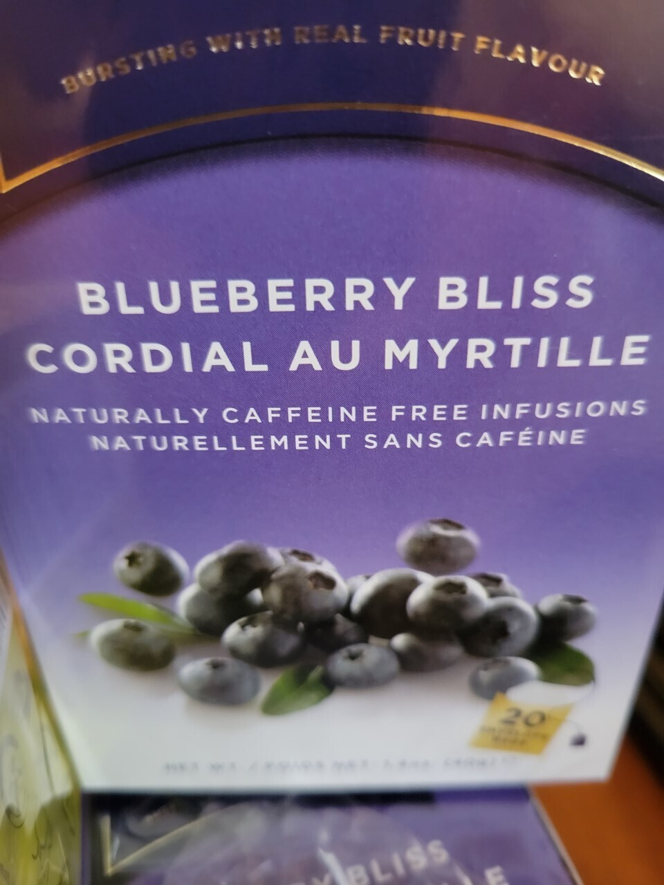 Tea- Blueberry Bliss Caffeine Free Infusion ( 20 envelope bags)