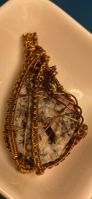 Pendant Exquisitely Detailed Astrophyllite POWER PIECE  -Handmade by Goddess Janelle