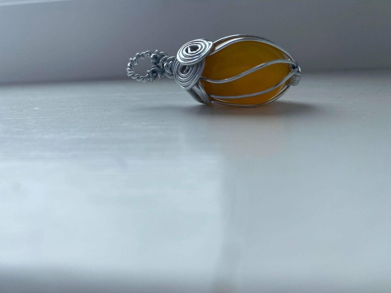Pendant The Solar Plexus- Happiness Stone -Handmade by Goddess Janelle