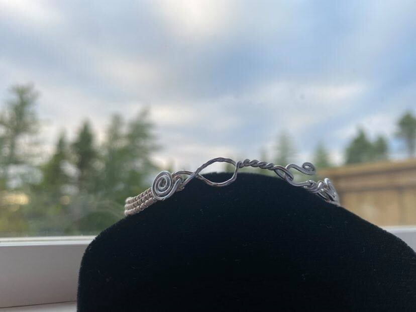 *NEW* Bracelet-Dainty Wire Wave  -Handmade by Goddess Janelle