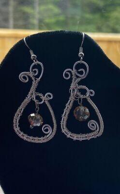 Earrings Smoky Quartz Bead/detail/detail/DETAIL!! -Handmade by Goddess Janelle