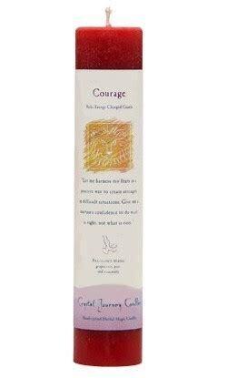 Candle Slim Pillar - Courage-Reiki Charged
