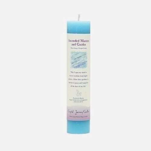 Candle Slim Pillar - Ascended Masters & Guides-Reiki Charged