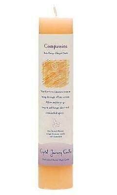 Candle Slim Pillar - Compassion-Reiki Charged