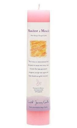 Candle Slim Pillar - Manifest A Miracle -Reiki Charged