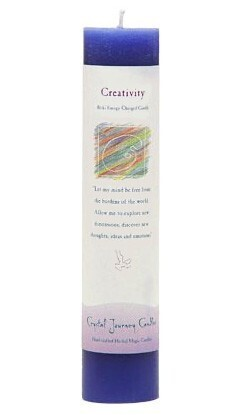 Candle Slim Pillar - Creativity -Reiki Charged