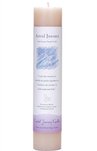 Candle Slim Pillar - Astral Journey -Reiki Charged