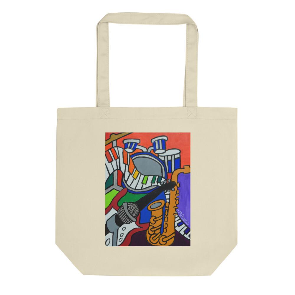 Music Vibes Eco Tote Bag
