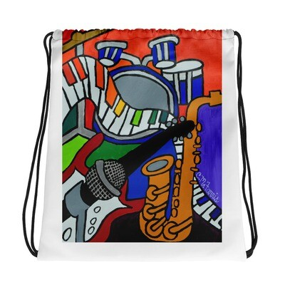 Music Vibes Drawstring bag