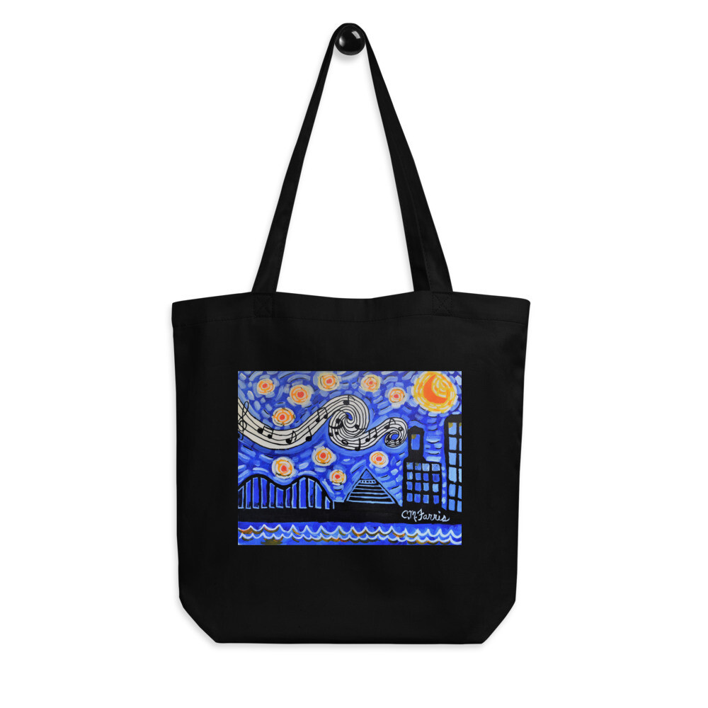 Memphis Nights Eco Tote Bag