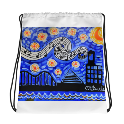 Memphis NIghts Drawstring bag