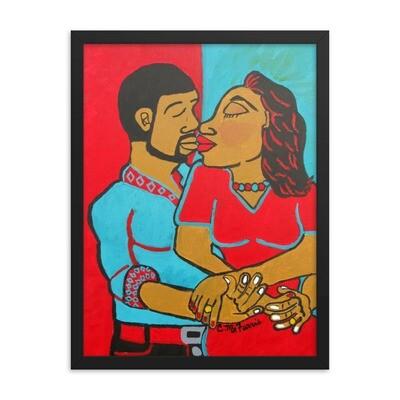 Lovers Embrace Framed 18X24 Print