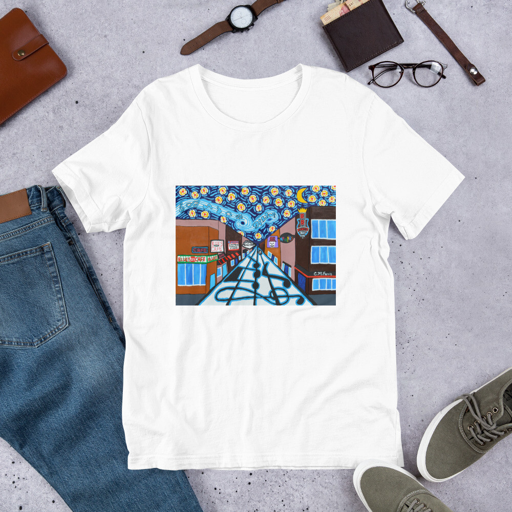Memphis Nights on Beale Street Short-Sleeve Unisex T-Shirt