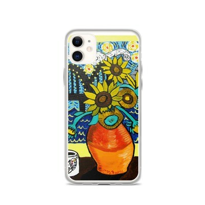 Sunflowers under Memphis Nights iPhone Case