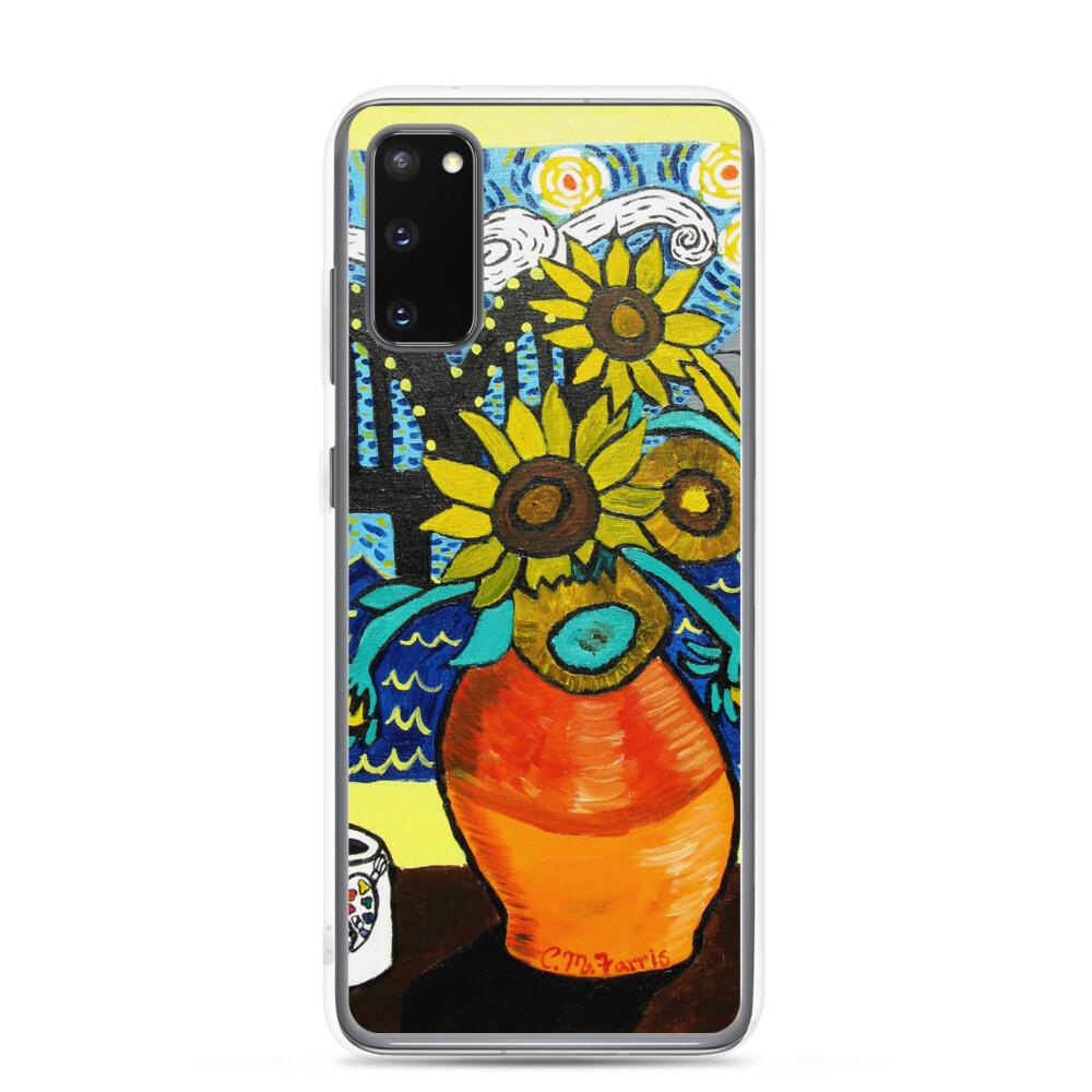 Sunflowers under Memphis Nights Samsung Case