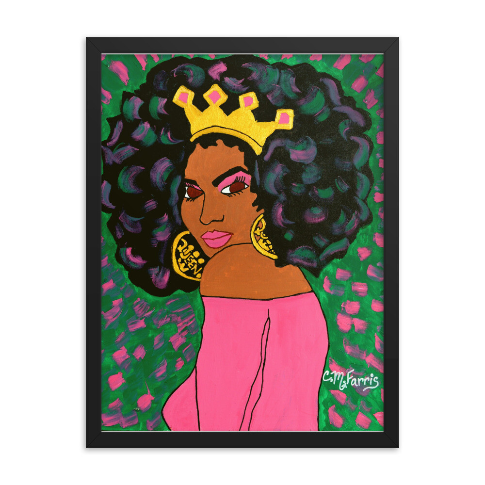 Black Queen Framed 18X24 Print