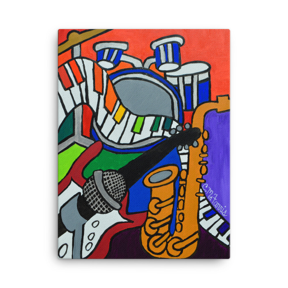 Music Vibes 18X24 Canvas Print