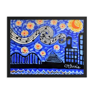 Memphis Nights Framed Print