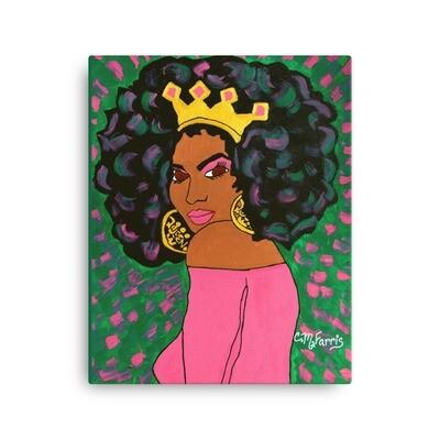 Black Queen 16X20 Canvas Print