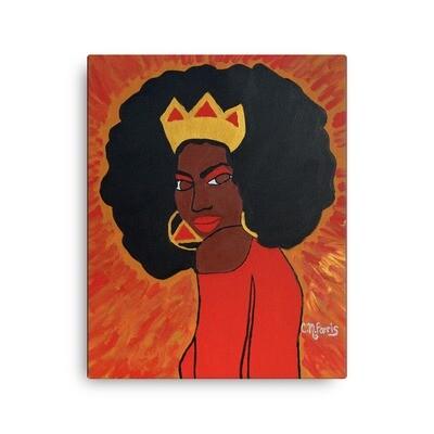 Fierce Queen 16X20 Canvas Porint