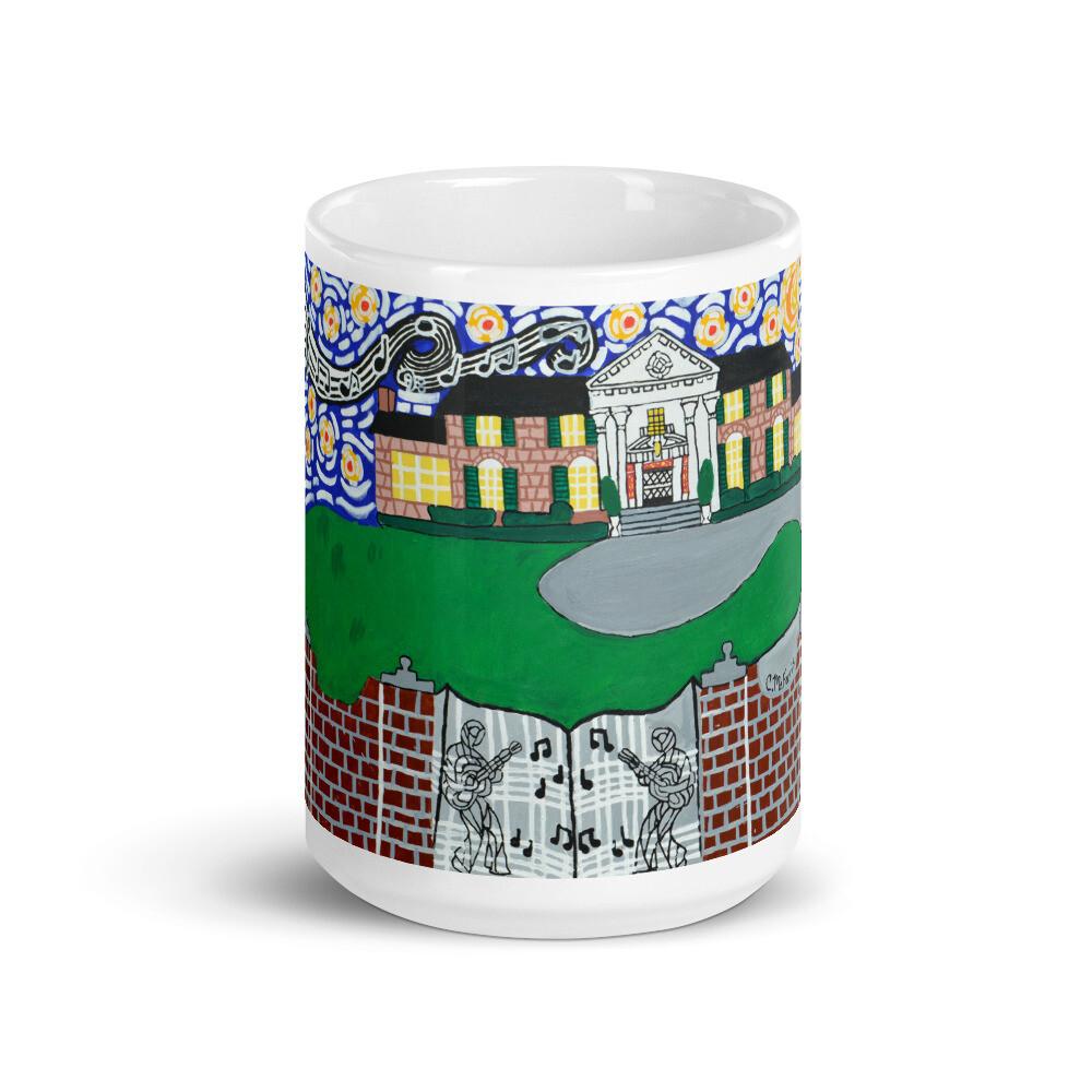 Memphis Nights over Graceland Mug