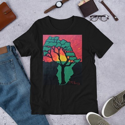African Sunset Short-Sleeve Unisex T-Shirt