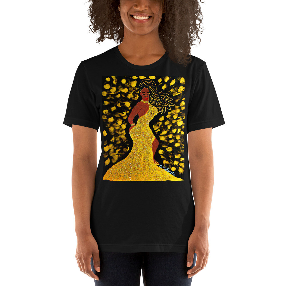 Golden Goddess Short-Sleeve Unisex T-Shirt