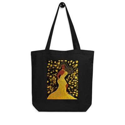 Golden Goddess Eco Tote Bag
