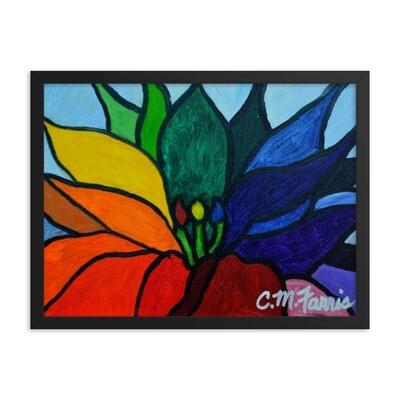 Rainbow Lotus Framed Print