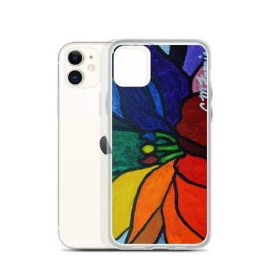 Rainbow Lotus Flower iPhone Case