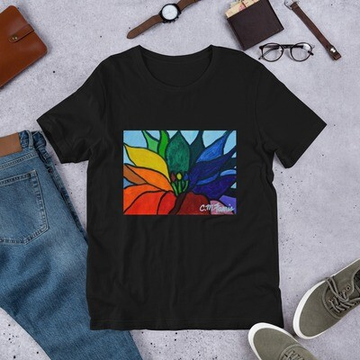 Rainbow Lotus Flower Short-Sleeve Unisex T-Shirt