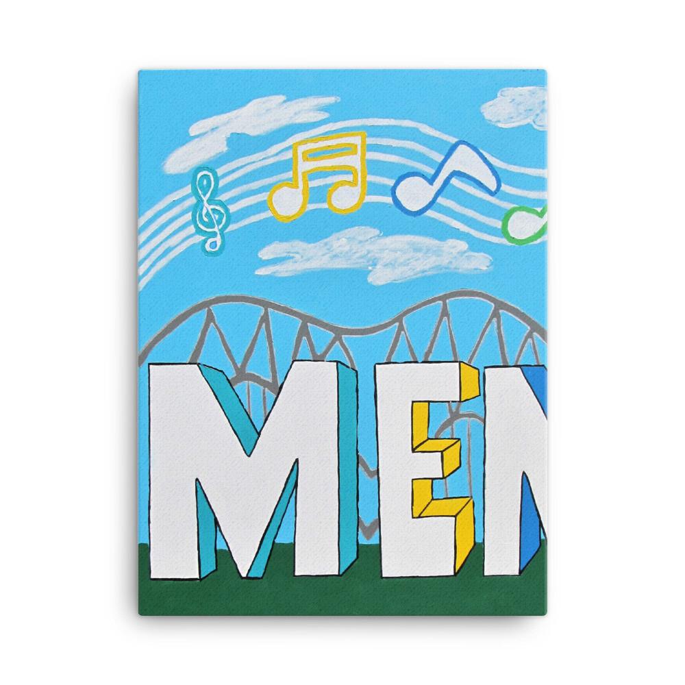 Sights & Sounds of Memphis (1 of 3 pc set) 18x24 Canvas