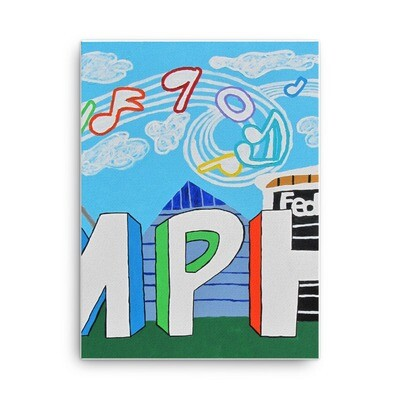 Sights & Sounds of Memphis (2 of 3 pc set) 18x24 Canvas