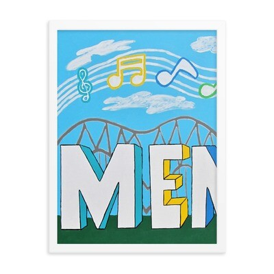 Sights & Sounds of Memphis 1 of 3 pc set  18x24 Framed Print
