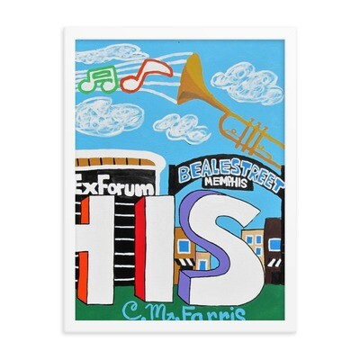 Sights & Sounds of Memphis ( 3 of 3 pc set ) 18x24 Framed Print