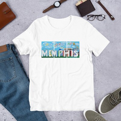 Sights & Sounds of Memphis Short-Sleeve Unisex T-Shirt