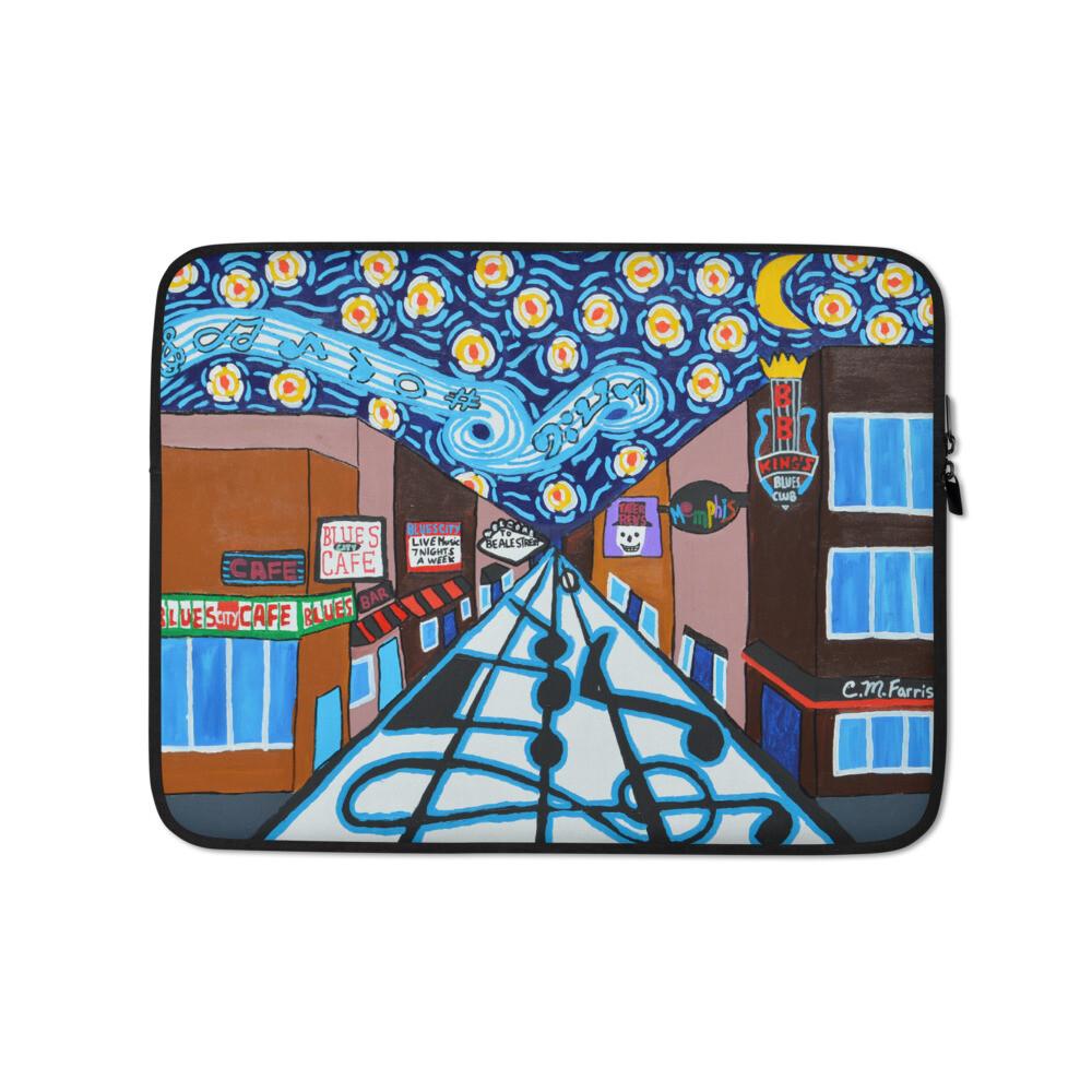 Memphis Nights on Beale Street Laptop Sleeve