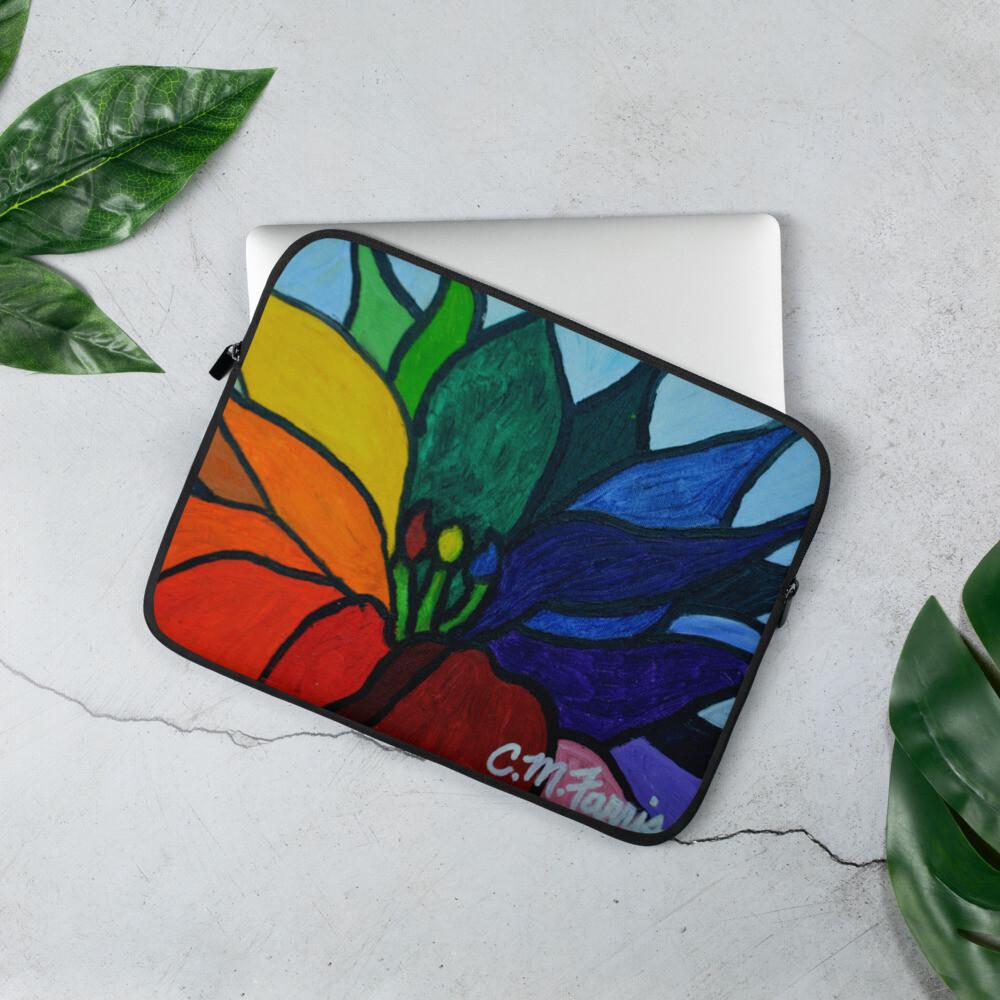 Rainbow Lotus Laptop Sleeve