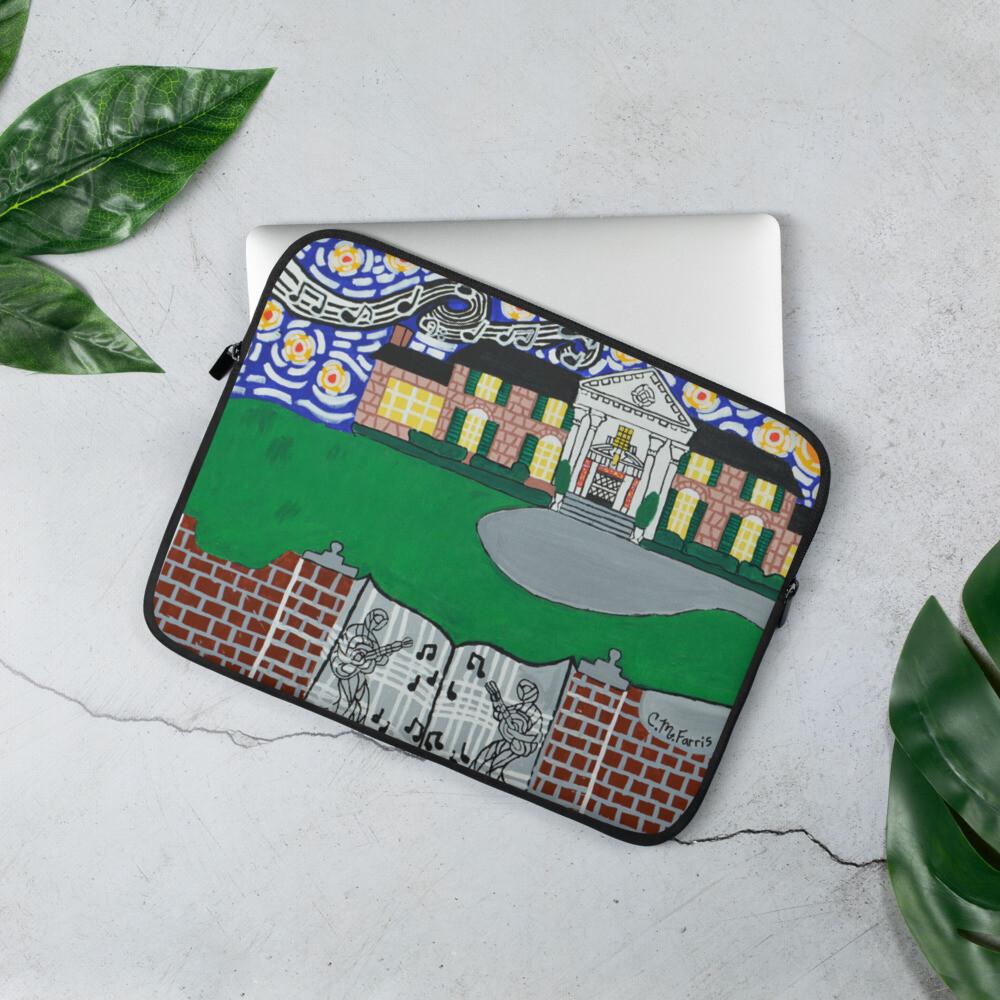 Memphis Nights over Graceland Laptop Sleeve