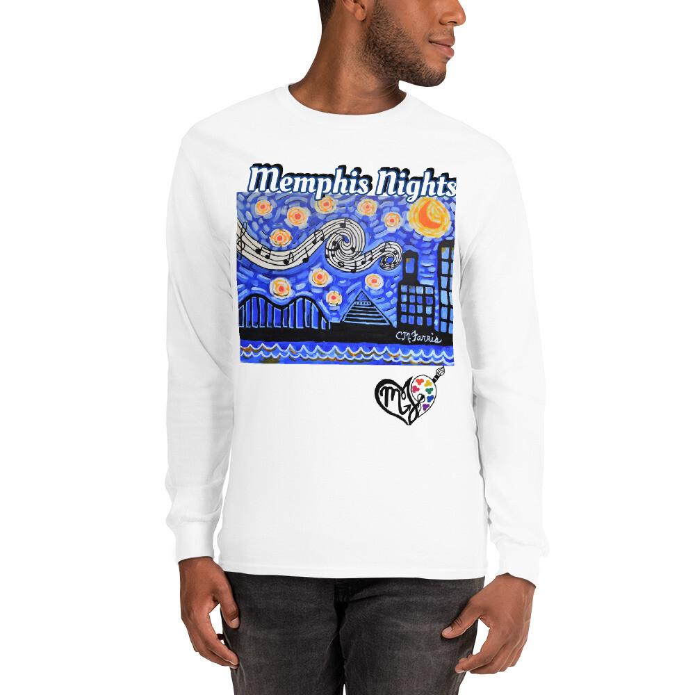Men's Memphis Nights  Long Sleeve Shirt