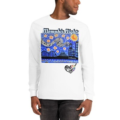 Men's Memphis Nights  Long Sleeve Shirt