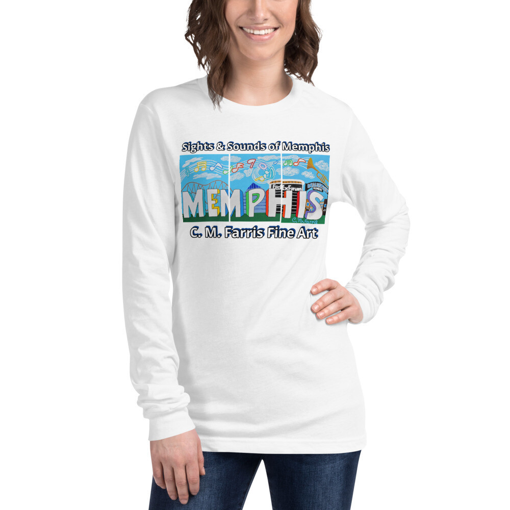 Women's Sights & Sounds of Memphis Unisex Long Sleeve Tee