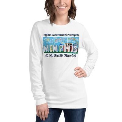 Women's Sights & Sounds of Memphis Unisex Long Sleeve Tee