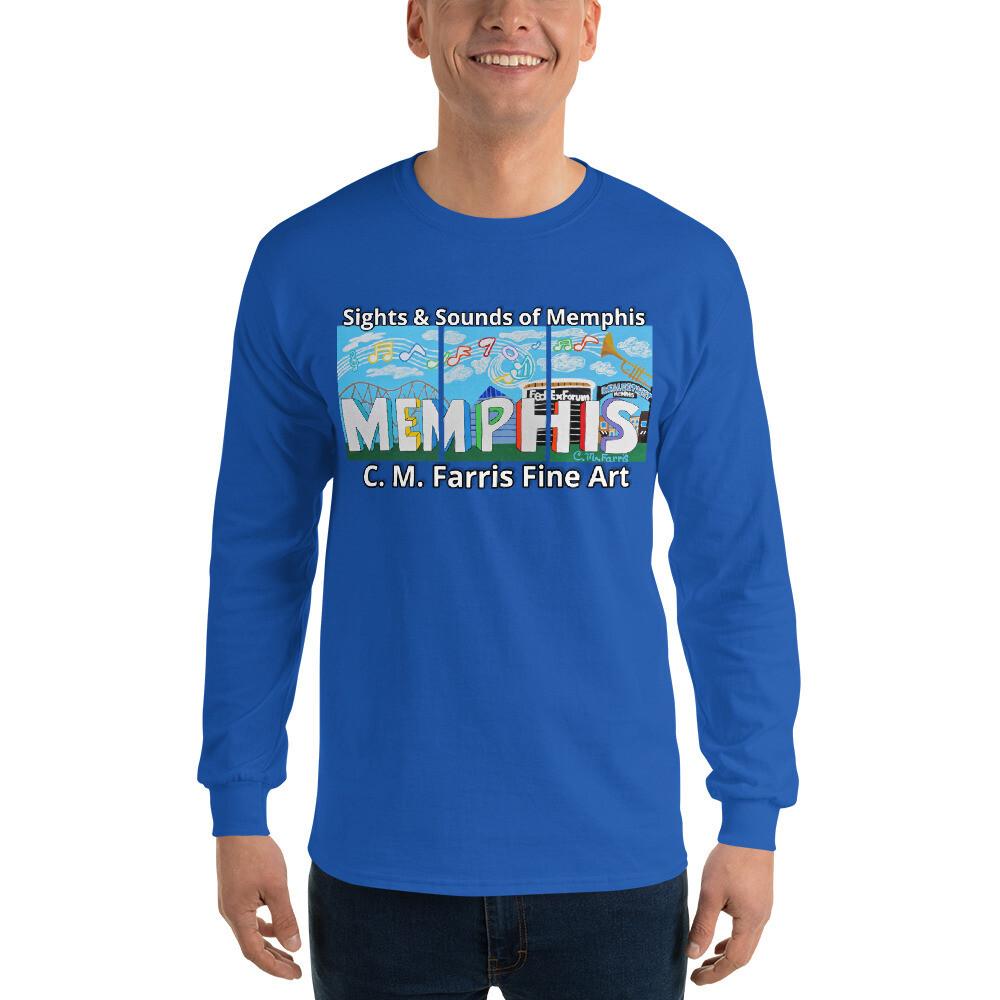 Men's Long Sleeve Sights & Sounds of Memphis Shirt