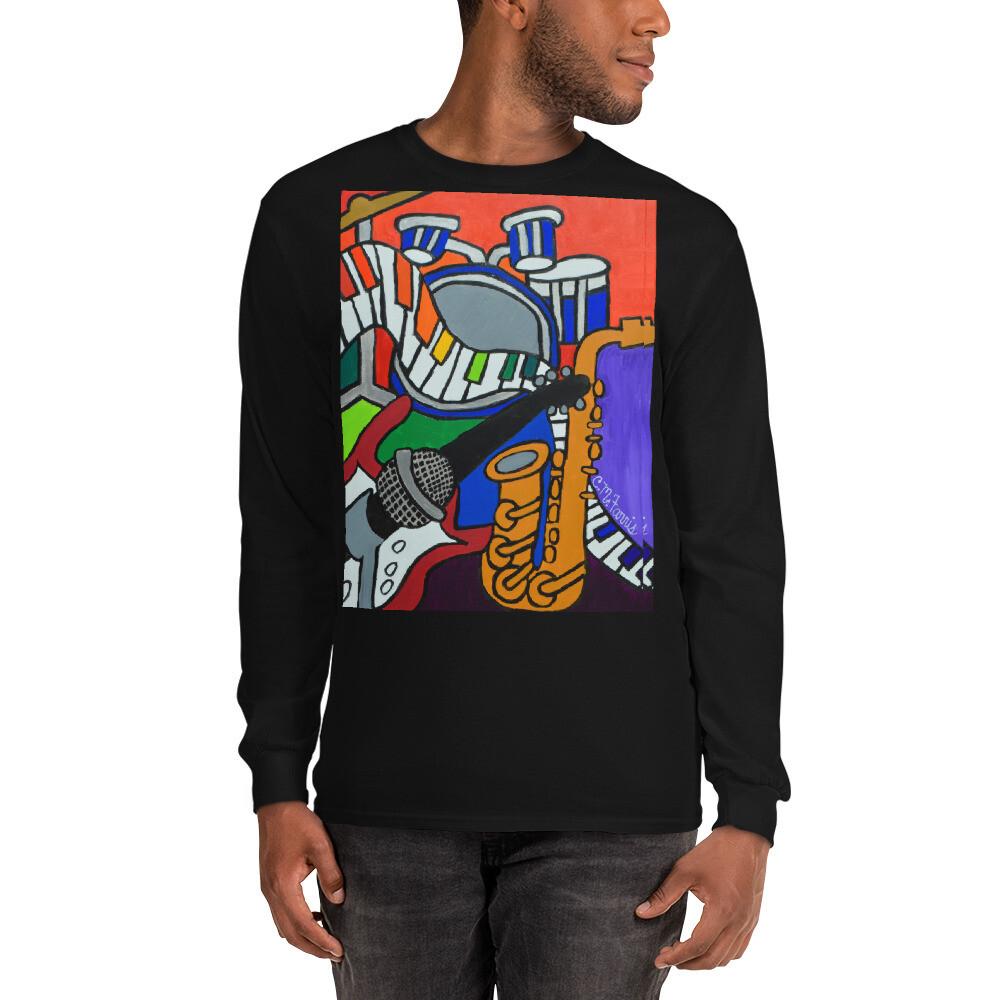 Music Vibes Men's Long Sleeve Shirt