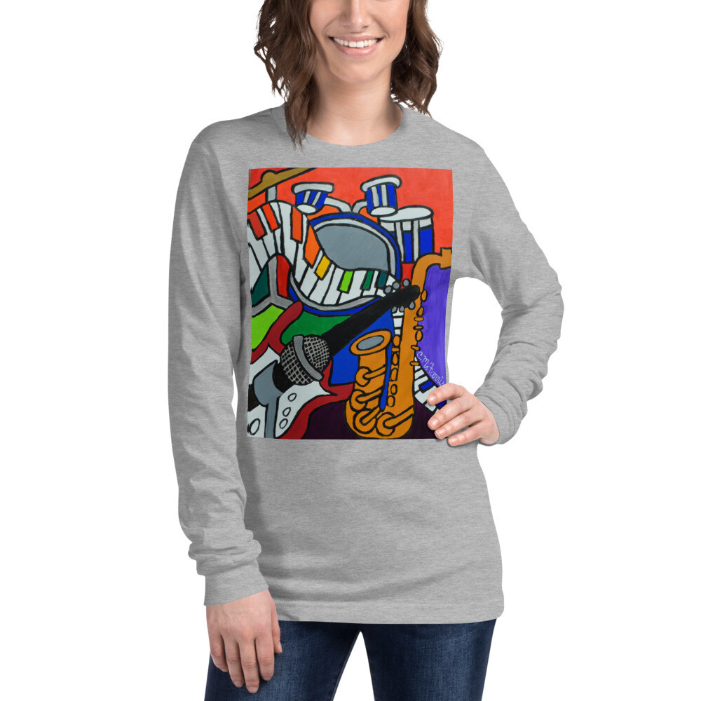 Music Vibes Women's Unisex Long Sleeve Tee